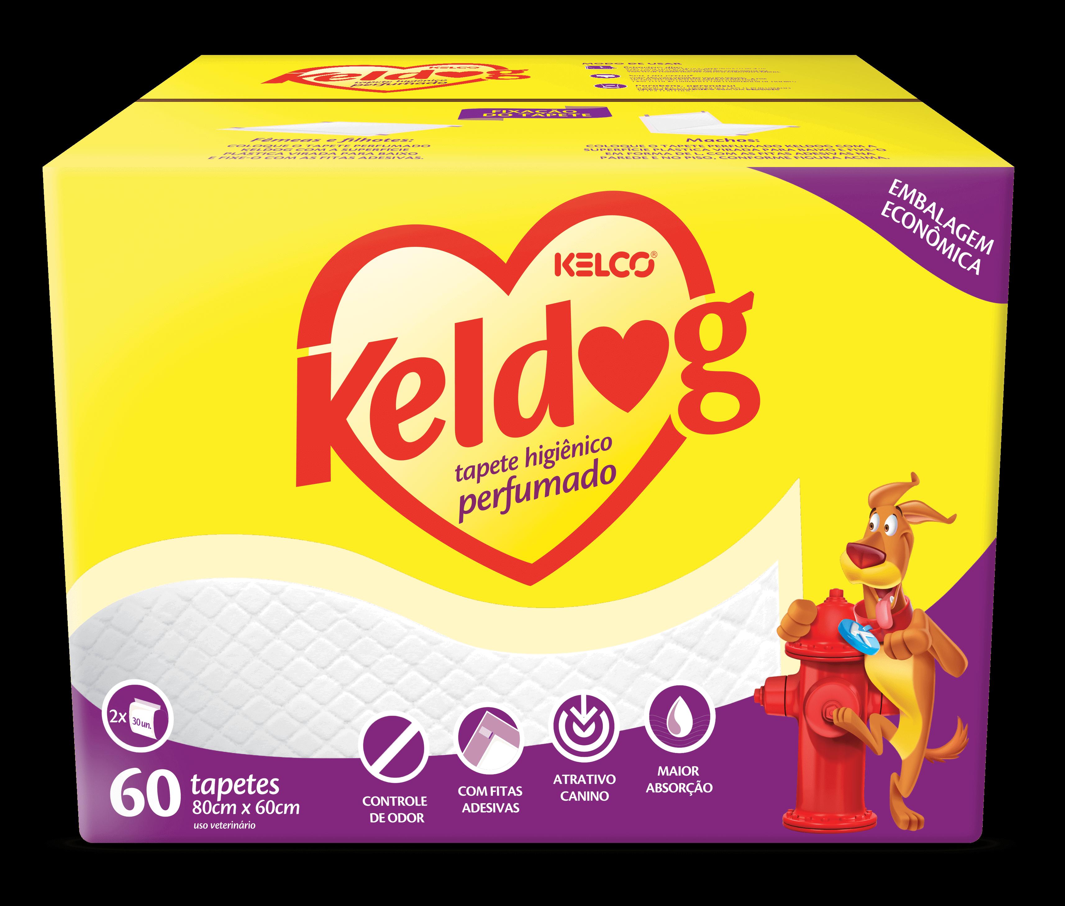 Keldog Tapete Perfumado Caixa com 60 Unidades